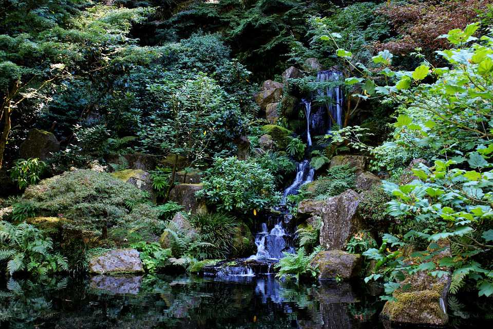 Bachlauf Waterfall Zen Landscape - Poster and Wallpaper Download