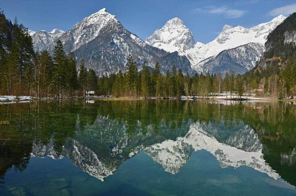 Alpen Mountains Bergsee - Poster and Wallpaper Download