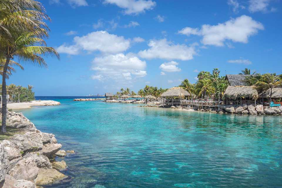 Lagune Curacao Island Blue Caribbean - Poster and Wallpaper Download