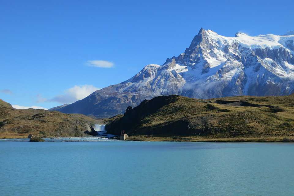 Torres Del Paine Water Lake River - Poster and Wallpaper Download