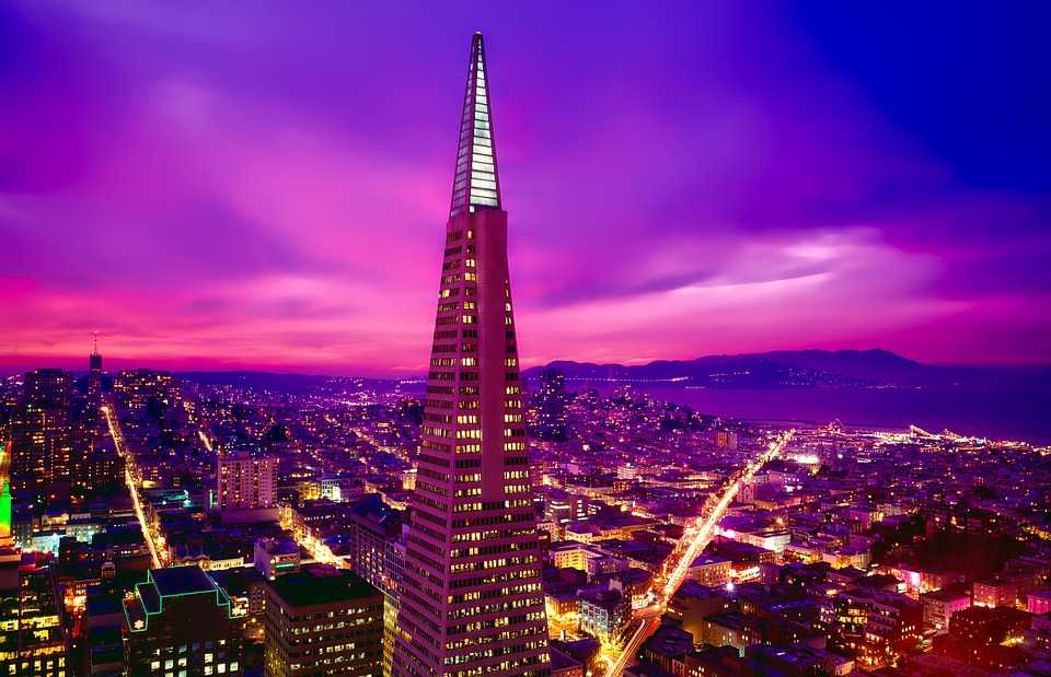 San Francisco California City Urban - Poster and Wallpaper Download