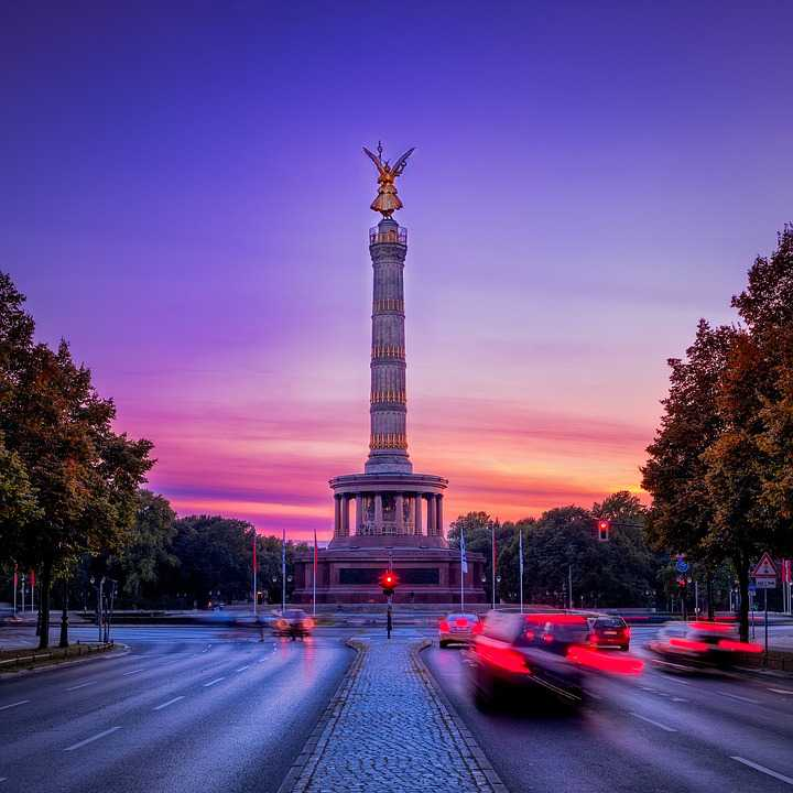 Siegessäule Berlin Capital Landmark - Poster and Wallpaper Download