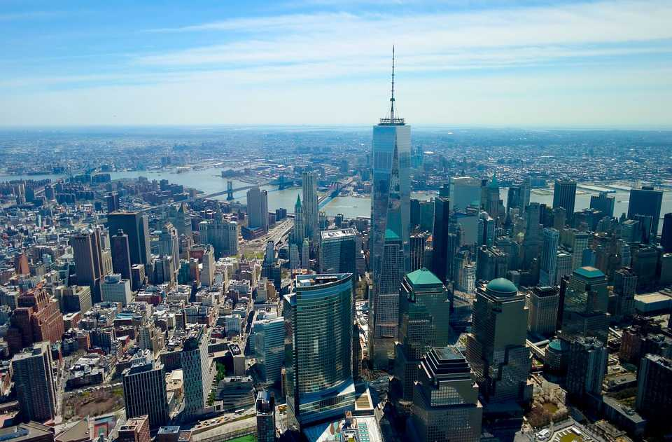 World Trade Center Downtown Aerial - Poster and Wallpaper Download