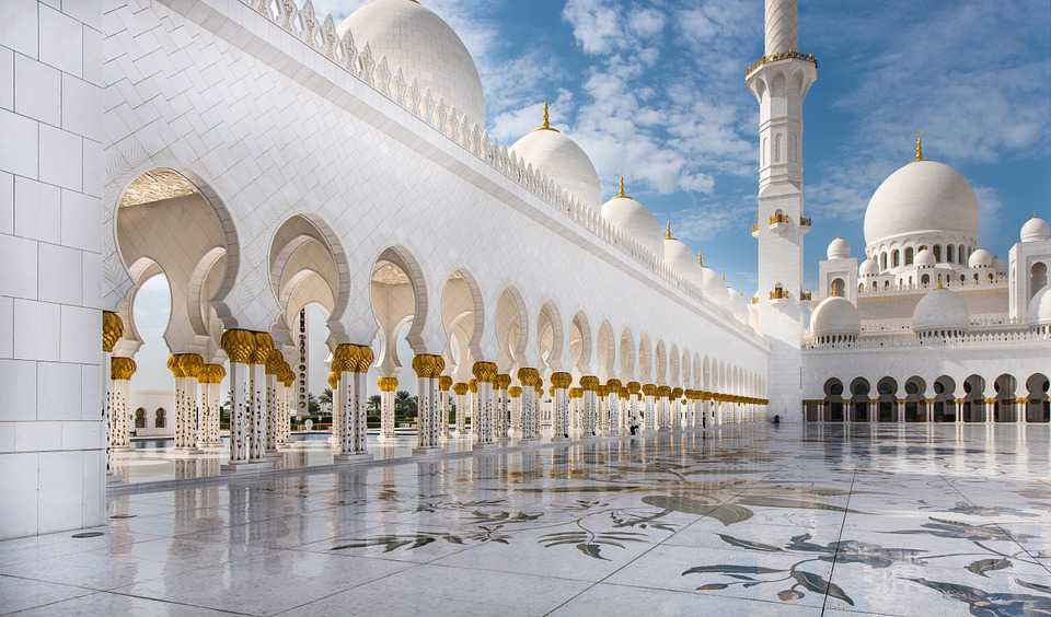 Mosque Abu Dhabi Travel White Architecture - Poster and Wallpaper Download