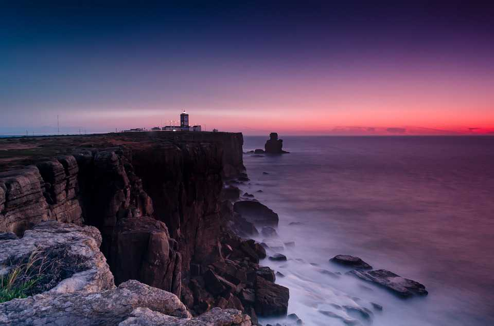 Coast Cliffs Lighthouse Beacon - Poster and Wallpaper Download