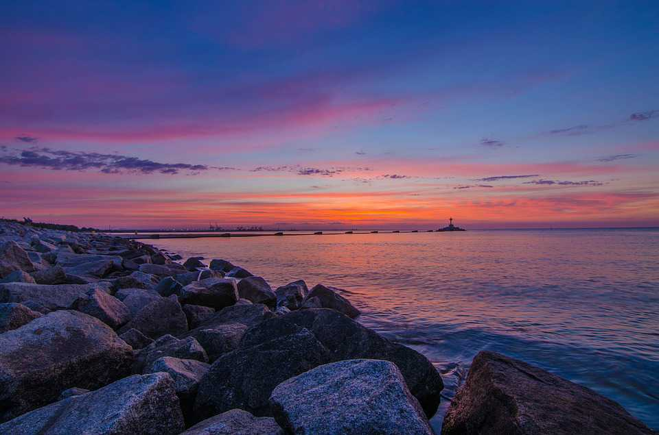 Sea Gdańsk Balyk The Baltic Sunset - Poster and Wallpaper Download