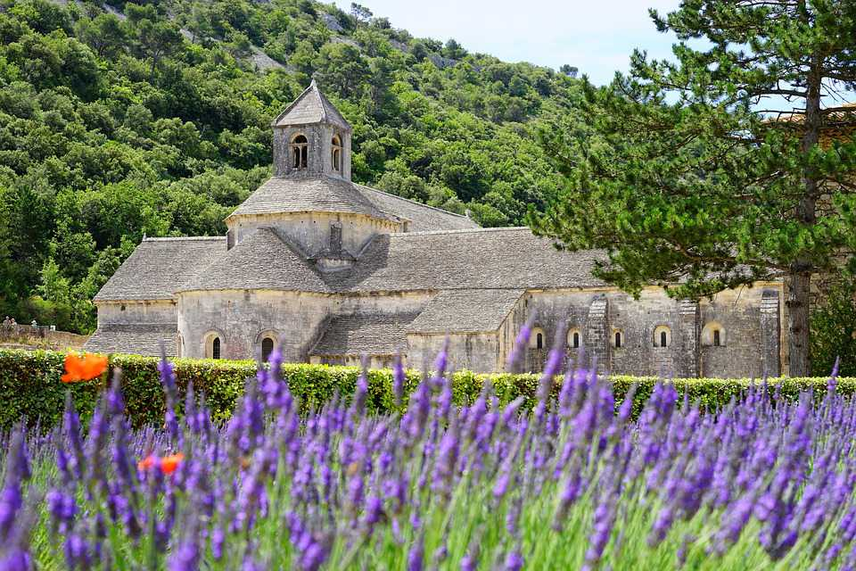 Abbaye Sénanque Monastery Abbey - Poster and Wallpaper Download