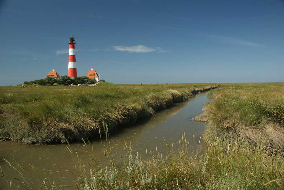 Lighthouse North Sea Westerhever - Poster and Wallpaper Download