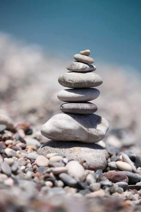 Balancing Stones Beach Stacked - Poster and Wallpaper Download