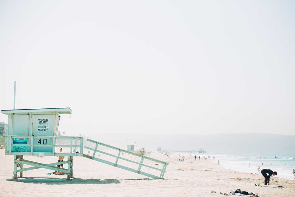Lifeguard Shack Station Beach Safety - Poster and Wallpaper Download
