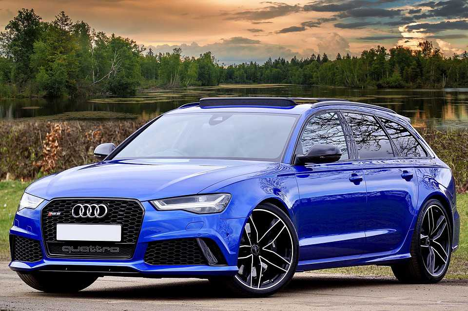 Audi Rs6 Auto Blue Sportwagen Schnell - Poster and Wallpaper Download
