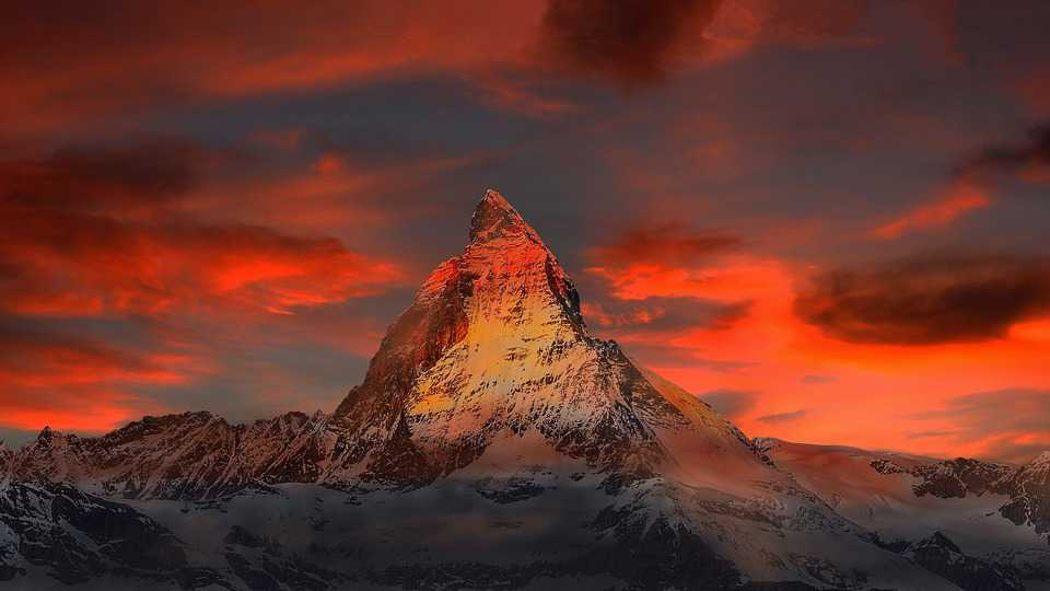 Schweiz Zermatt Mountains Snow - Poster and Wallpaper Download
