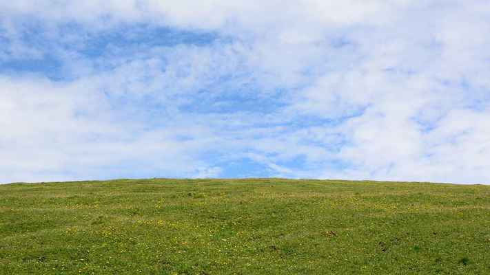 Poster Horizont Meadow Sky Nature Blue