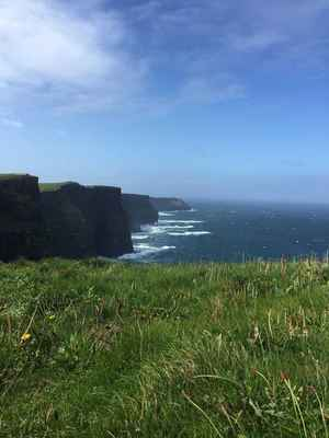 Poster Cliffs Of Mohr Ireland Irish Sea Windy