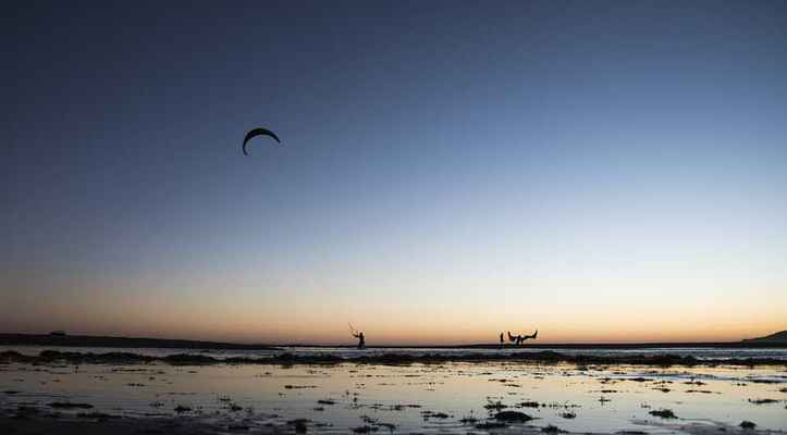 Poster Kite Surf Rate Sunset Wind Sky Ecological Download