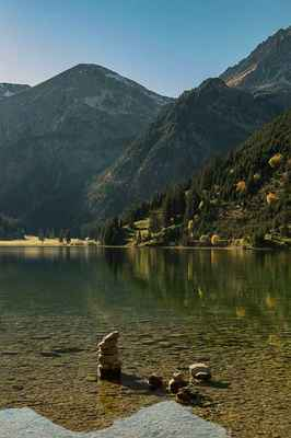 Poster Tyrol Bergsee Vilsalpsee Alpine Vilsalpseeberge Mountains Tannheim Download