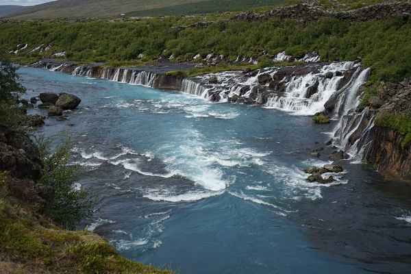 Poster Barnafoss Waterfall Iceland River Water Download