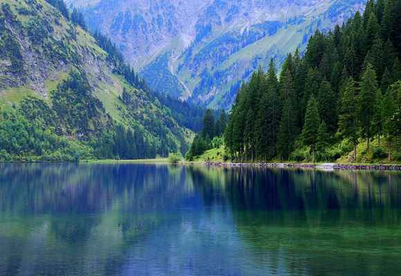 Poster Vilsalpsee Austria Tannheim Alpine Mountains Bergsee Nature Download