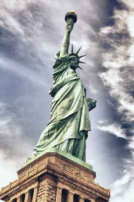 Poster Statue Of Liberty Architecture New York Freedom Download
