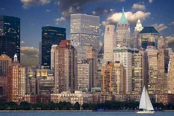 Poster New York Skyline Manhattan Hudson Download