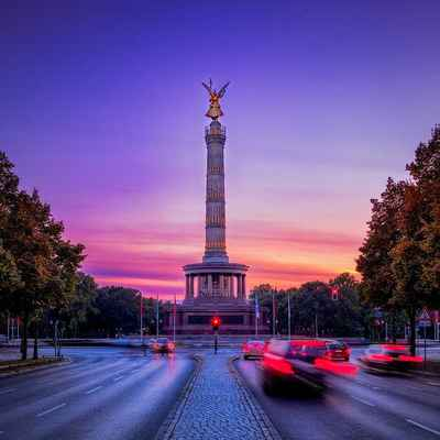 Poster Siegessäule Berlin Capital Landmark Gold Else Places Download