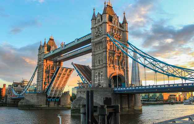 Poster Tower Bridge London Evening Abendstimmung Sunset England