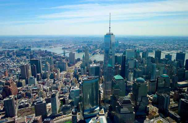 Poster World Trade Center Downtown Aerial New York Download