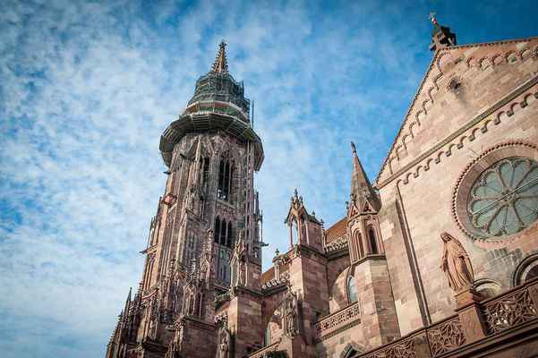 Poster Cathedral Freiburg Gothic Church Tower Historic Monument Download