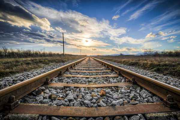 Poster Gleise Old Railroad Tracks Seemed Train Metal Download