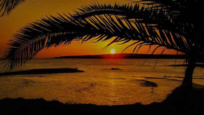Poster Sunset Dusk Evening Nature Colorful Sea Scenic Download