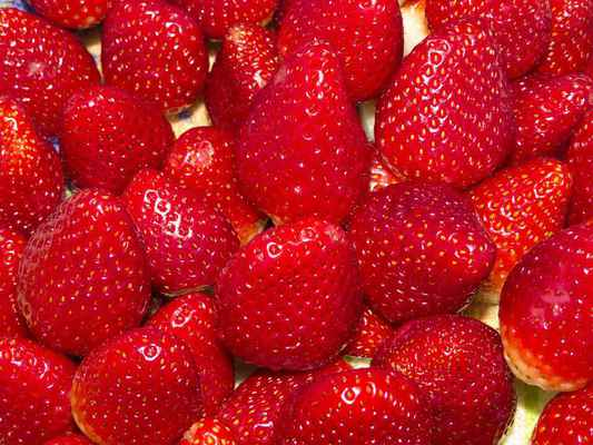 Poster Strawberry Fruit Macro Delight Health Power Supply