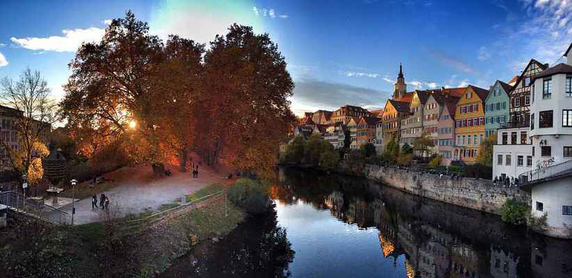 Poster Autumn Tübingen Nature Fall Leaves Southern Germany Download