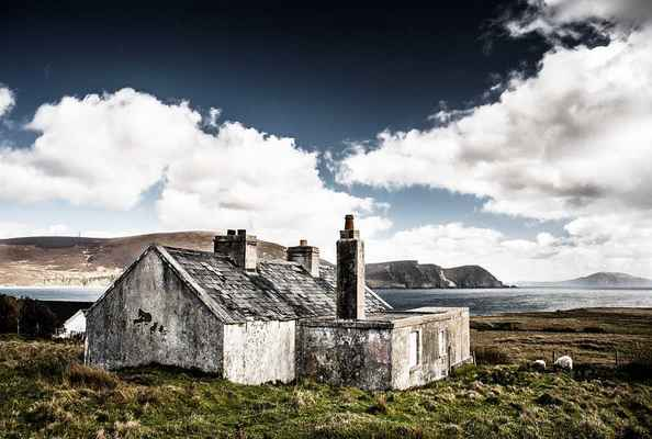 Poster Hütte Ruine Irland House Am Sea Download