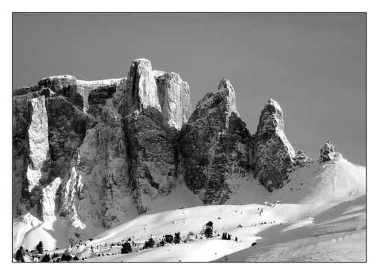 Poster Sella Group Sellaronda Alpine Mountains Snow Wintry