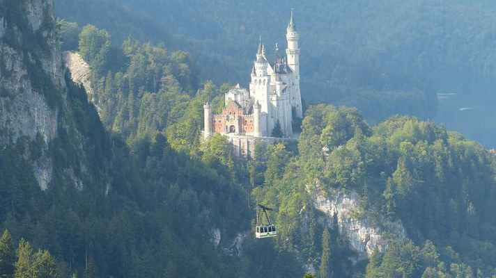 Poster Allgäu Neuschwanstein Castle Mountains Fairy Download