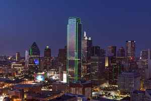 Poster Dallas Skyline Cityscape Dusk Texas Twilight Sunset