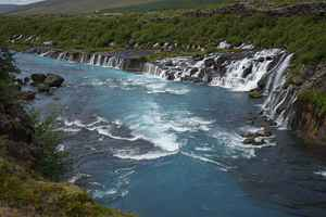 Poster Barnafoss Waterfall Iceland River Water