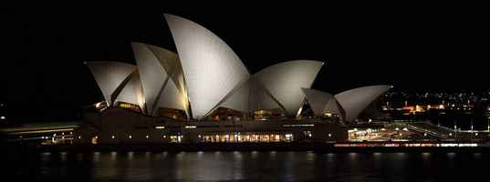 Poster Australia Sydney Opera House Landmark Tourism Night