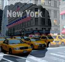 Poster New York Manhattan Taxi America USA Straße