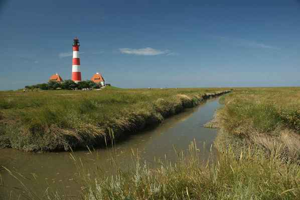Poster Lighthouse North Sea Westerhever Intertidal Zone Daymark