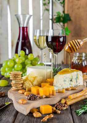 Poster Cheese Plate Wine Snacks Gastronomy Nutrition Food