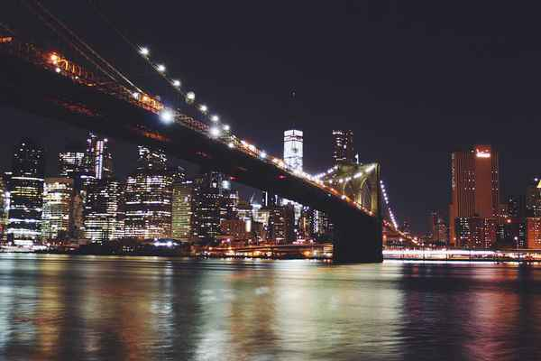 Poster Brooklyn Bridge New York Manhattan Lake City Download
