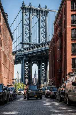 Poster Vereinigte Staaten New York Manhattan Bridge Skyline