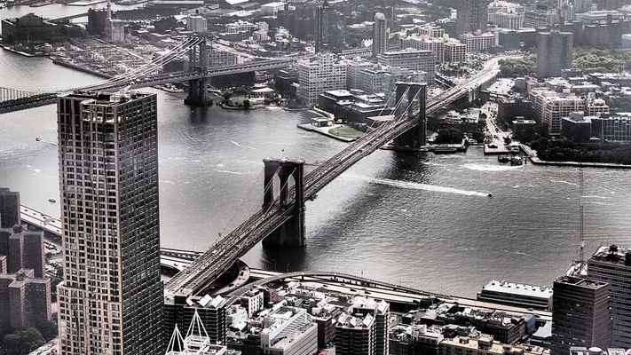 Poster New York Sightseeing Brooklyn Bridge Interessant Attraction